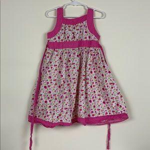 Girls pink polka dot summer dress sz 5